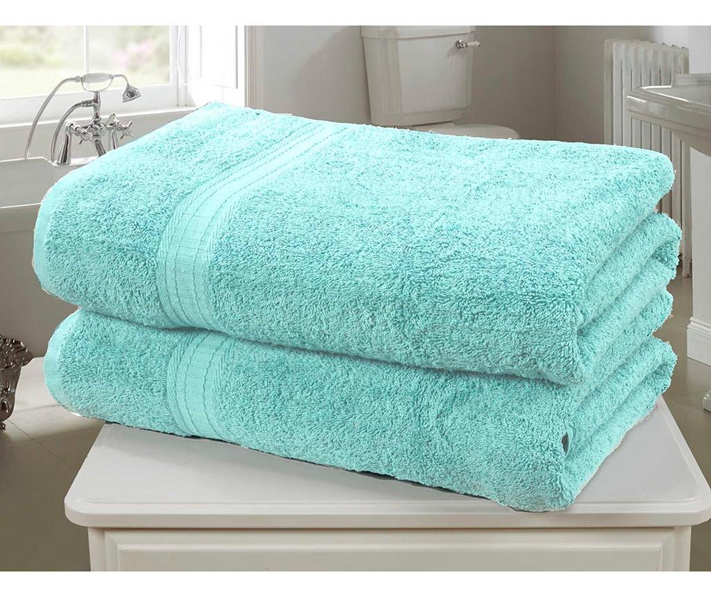 Set 2 kopalniških brisač Royal Kensington Aqua 90x140 cm