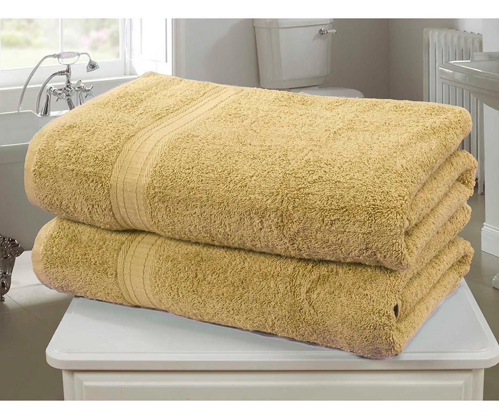 Set 2 kopalniških brisač Royal Kensington Ochre 90x140 cm