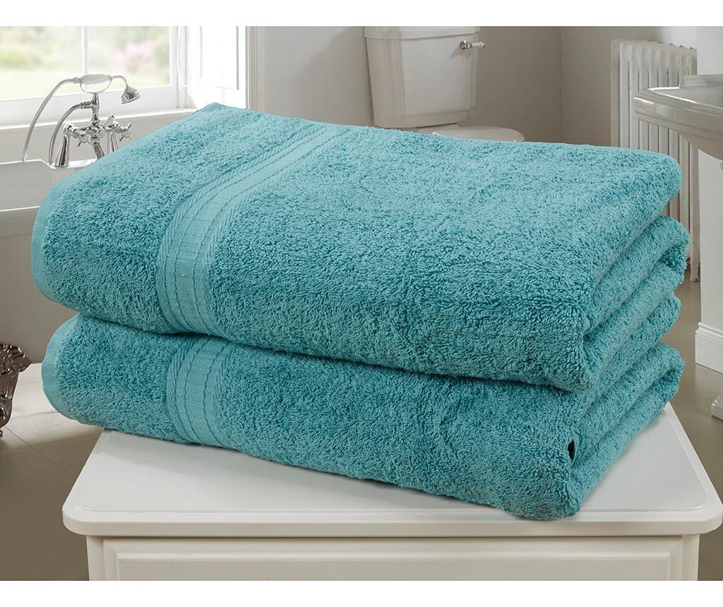 Set 2 kopalniških brisač Royal Kensington Turquoise 90x140 cm