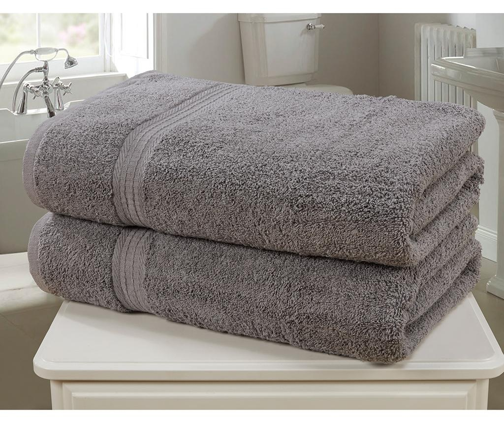 Set 2 kopalniških brisač Royal Kensington Charcoal 90x140 cm