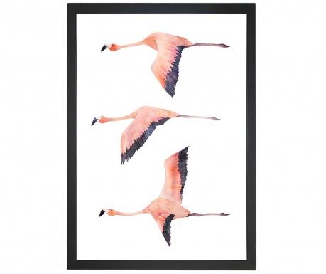 Flying Flamingos Kép 24x29 cm