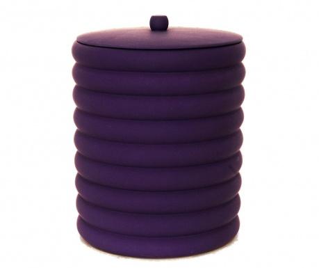 Кош за отпадъци с капак Waves Purple 5 L