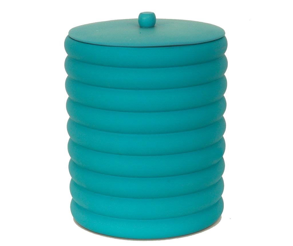 Kanta za smeće sa poklopcem Waves Turquoise 5 L
