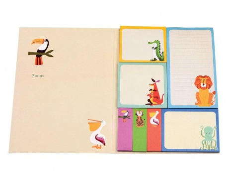 Σετ 7 μπλοκ με αυτοκόλλητα χαρτάκια σημειώσεων Colourful Creatures