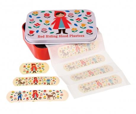 Σετ 30 επιθέματα και κουτί με καπάκι Red Riding Hood