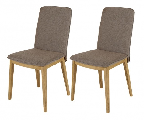 Sada 2 stoličky Adra Oak Brown