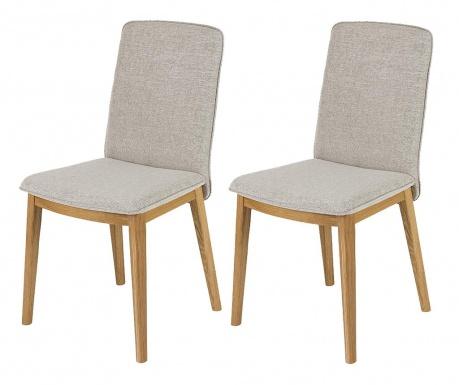 Sada 2 stoličky Adra Oak Light Grey