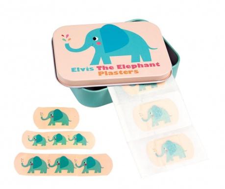 Elvis the Elephant 30 db Tapasz és doboz fedővel
