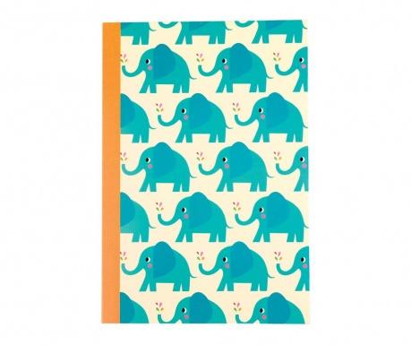 Elvis the Elephant A5 Füzet