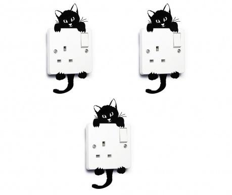 Комплект 3 стикера за контакт Cute Cat