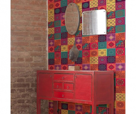 Комплект 12 стикера Colourful Mandala