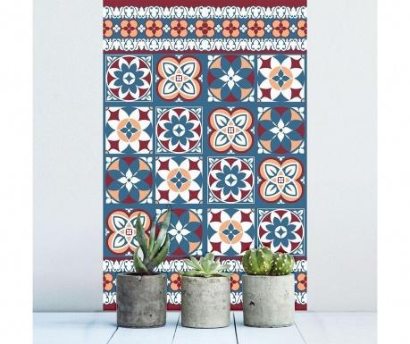 Комплект 12 стикера Red Blue Tiles
