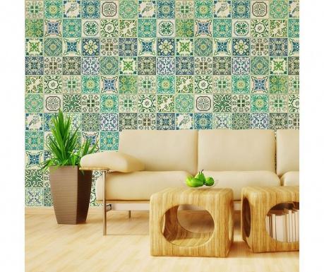 Комплект 12 стикера Turkish Green Mosaic