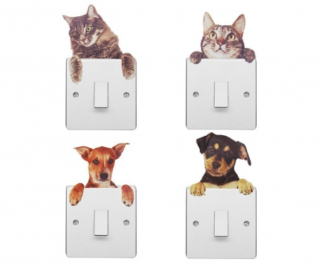 Комплект 3 стикера за контакт Dogs and Cats