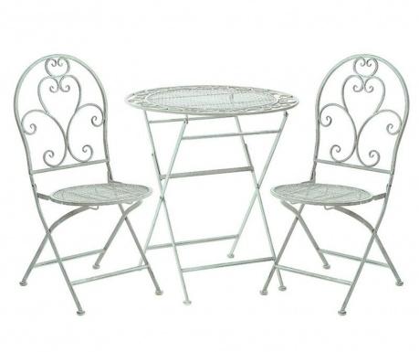 Set masa si 2 scaune pliabile pentru exterior Abrielle