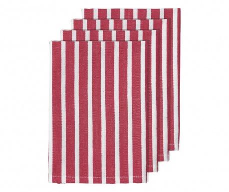 Комплект 4 салфетки за маса Bahamas Stripe Pink 45x45 см