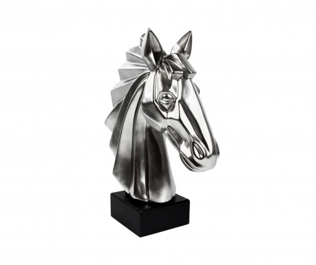Dekorácia Existence Horse Head Matt Silver