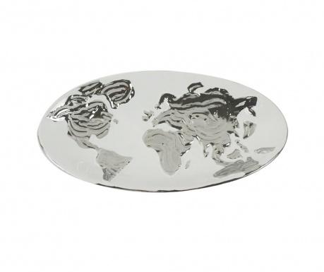 Dekoračný podnos Equinoxe World Map Oval