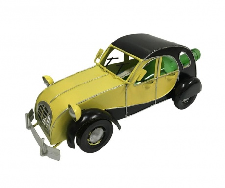 Držiak na fľašu Premium Vintage Car Yellow Black