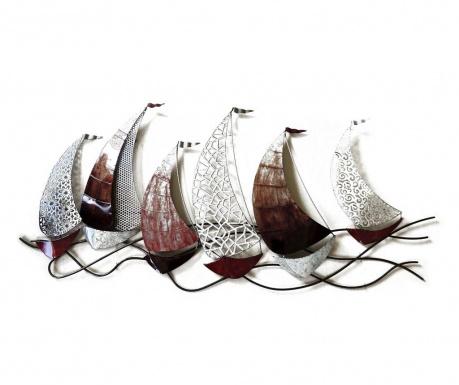 Nástenná dekorácia Beaux Arts Scalloped Racing Boats