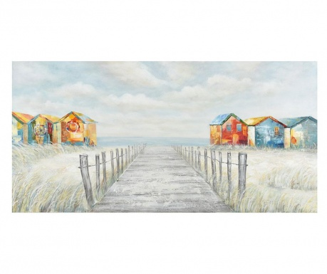 Obraz Gallery Beach Huts 70x140 cm
