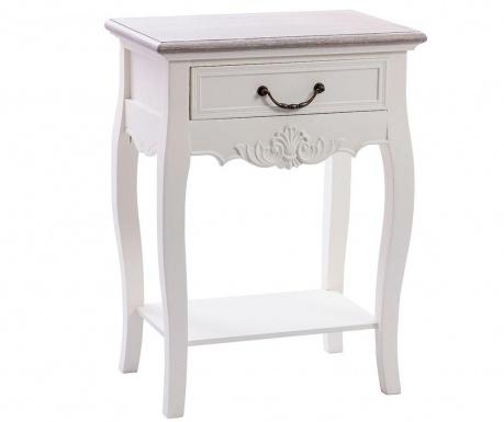 Maira Cream Asztalka 1 fiókkal