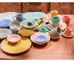 Set skodelice in krožnička Freddie Coral