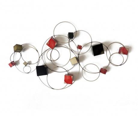 Nástenná dekorácia Beaux Arts Cubes and Circles Geometry
