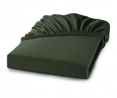 Postelná plachta s gumičkou Percale Loryn Dark Green