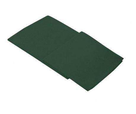 Posteľná plachta Percale Loryn Dark Green 270x310 cm