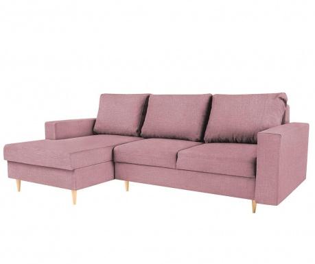 Iris Pink Baloldali  kihúzható sarokkanapé