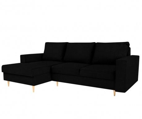 Разтегателен ляв ъглов диван Iris Black