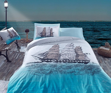 Σετ κρεβατοκάμαρας Single Ranforce Ship Blue