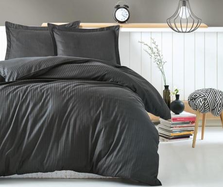 Спално бельо King Satin Stripe Anthracite
