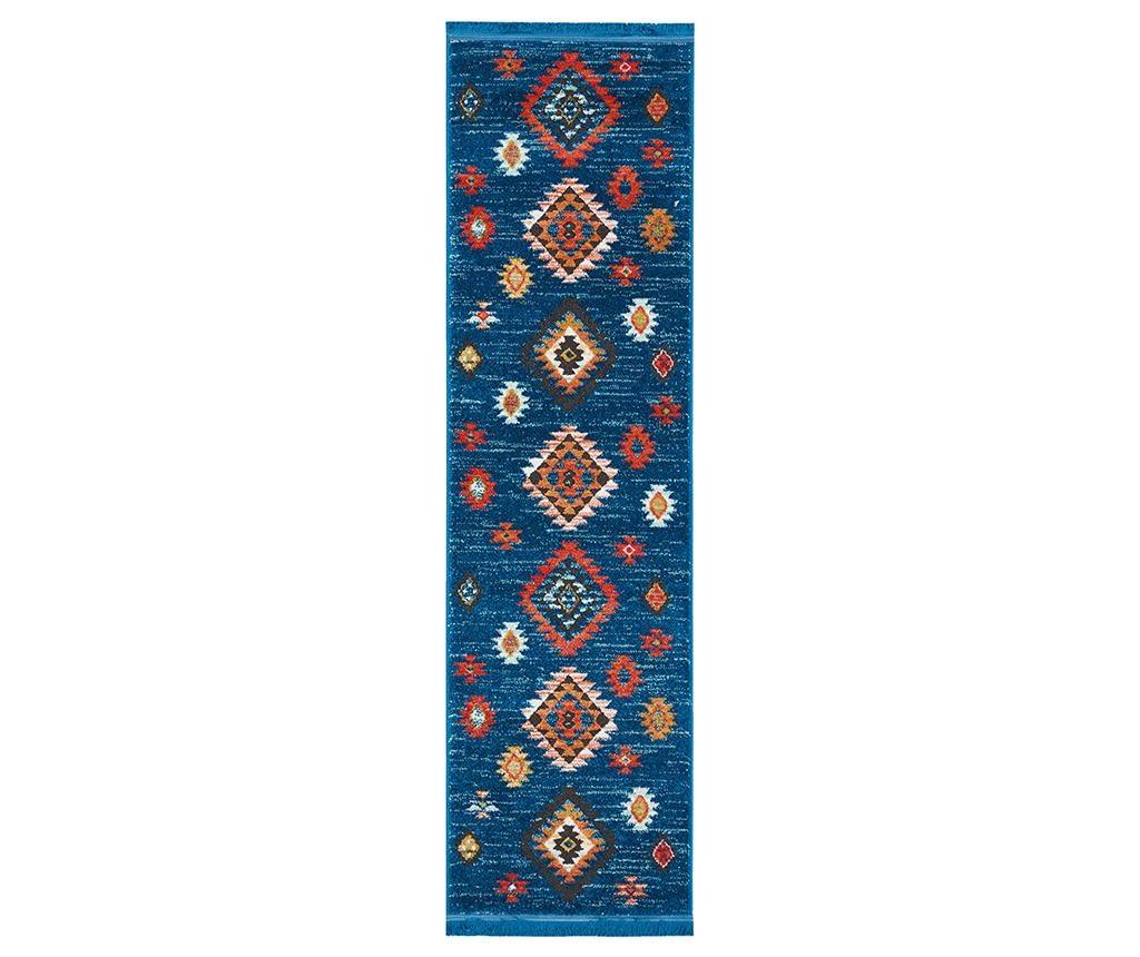 Tepih Navajo Blue Runner 66x130 cm