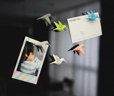 Set 6 magnetov Humming Bird Pastel