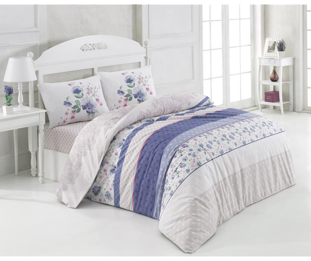 Set posteljina King Ranforce Delbin Blue 200x220
