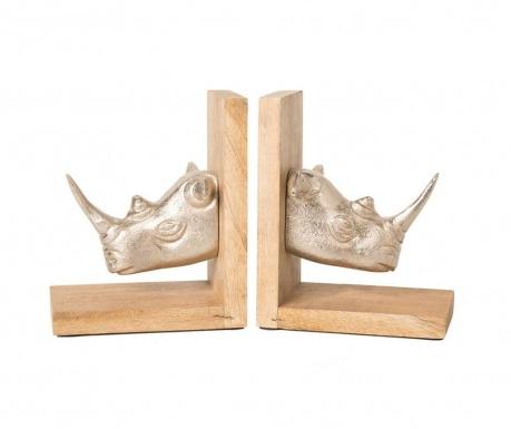 Sada 2 knižných zarážok Rhino