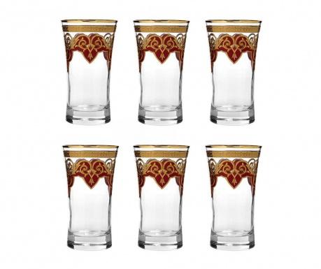 Σετ 6 ποτήρια Diamond Ottoman Red 300 ml