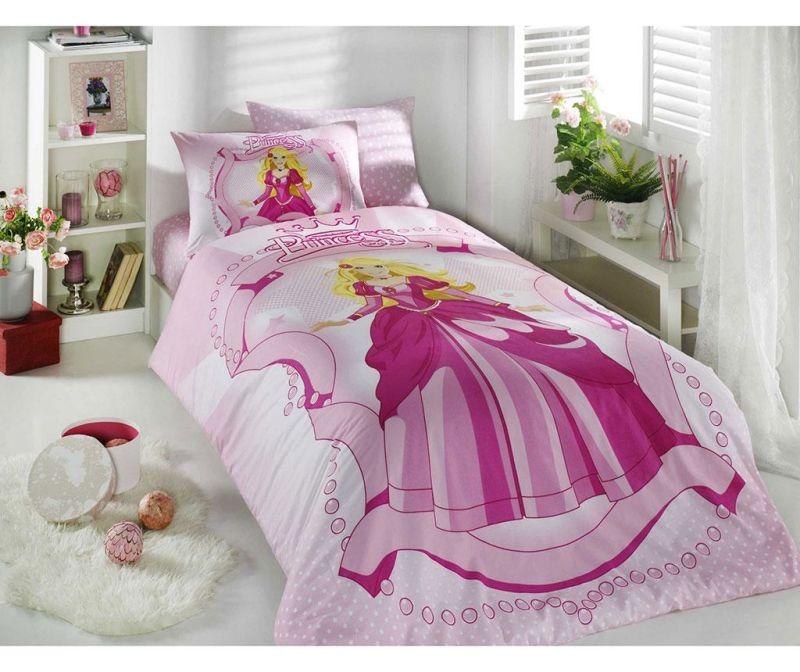 Ložní povlečení Single Ranforce Princess Pink