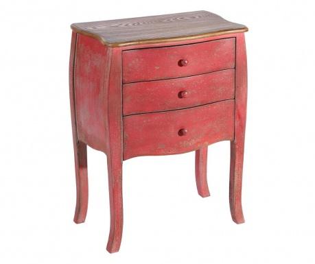 Stolik z szufladami Colaba Red