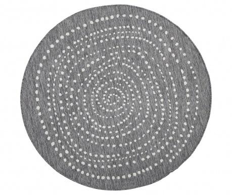 Dywan zewnętrzny Reversible Twin Round Grey