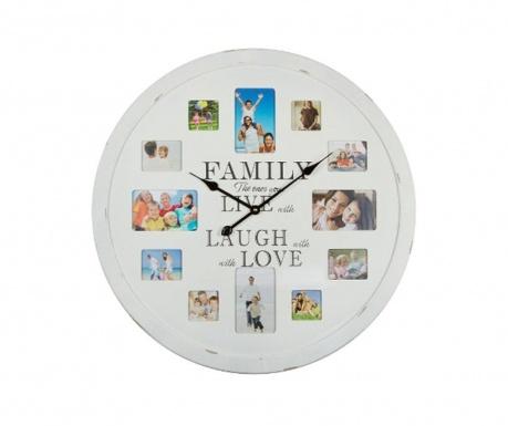 Nástenné hodiny s 12 fotografiami Family