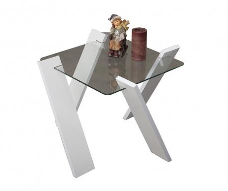 Roman Mini Shiny White Dohányzóasztal