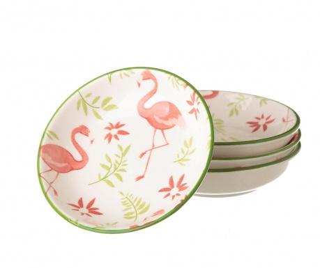 Σετ 4 πιατάκια Flamingo