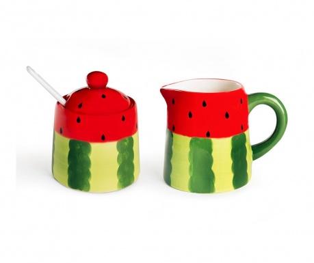 Sada mléčenka a cukřenka s víkem Watermelon