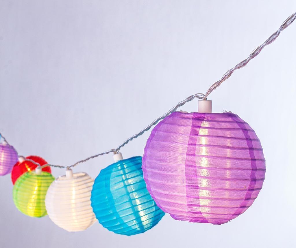 Ghirlanda luminoasa pentru exterior Colorful Spheres