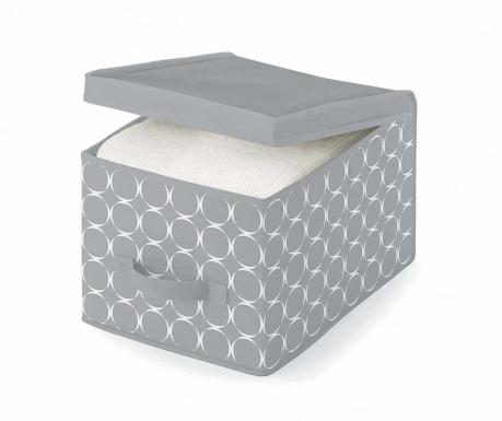 Κουτί με καπάκι για αποθήκευση Hoop Grey S