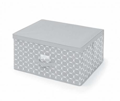 Κουτί με καπάκι για αποθήκευση Hoop Grey L