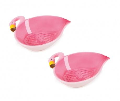 Tropical Flamingo 2 db Mély tál 180 ml